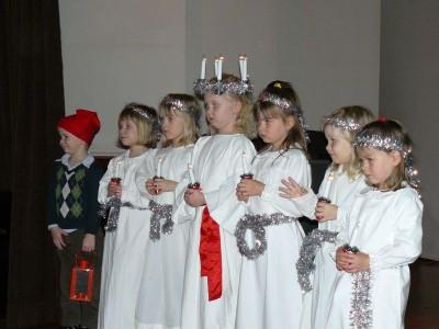 Föreningens egen Lucia på julfesten