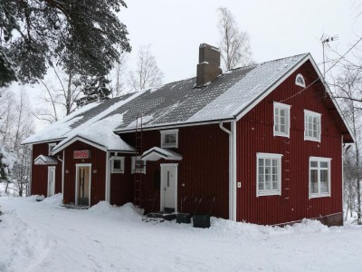 Föreningslokalen Viljan i vinterskrud