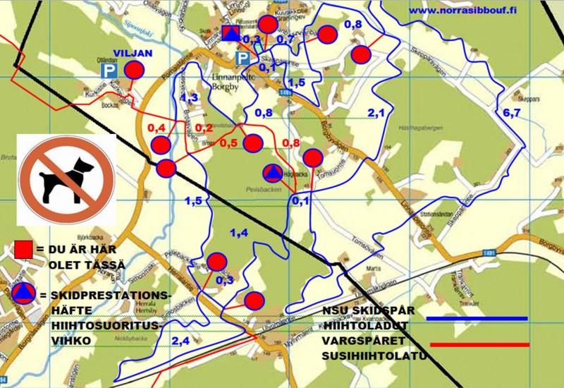 Skidspår i Borgby och Hertsby 2013