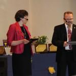 Kicka och Johan höll i trådarna för programmets presentation